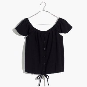 NWT Madewell Off The Shoulder Texture & Thread Top